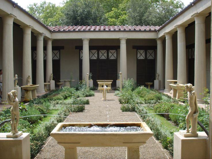 Reconstrucción del jardín romano de la Casa de los Vettii en Pompeya