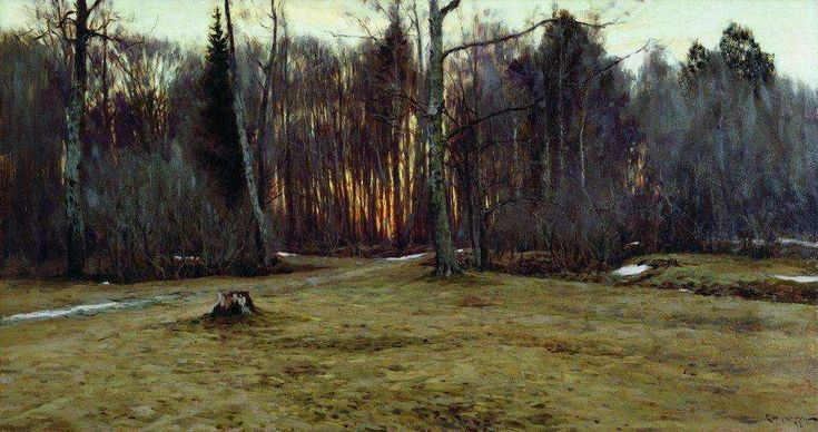 Жуковский. Апрельский вечер / Zhukovsky. April Evening (1898)