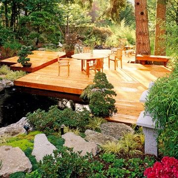 13 best images about decks and design inspiration on for Deck pond ideas