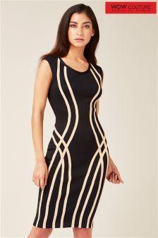 Облегающее платье Wow Couture с контрастной отделкой