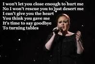 turning tables lyrics - Google Search