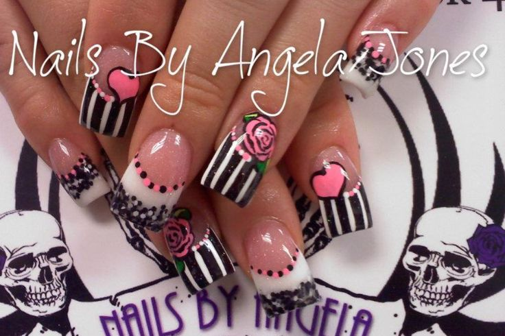 Acrylic nails by Angela Jones