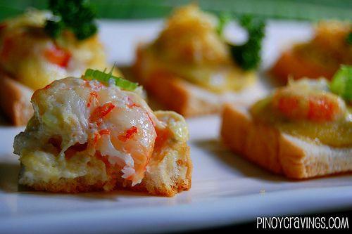 Recipe for shrimp supreme canapes recipe yummy apps for Shrimp canape ideas
