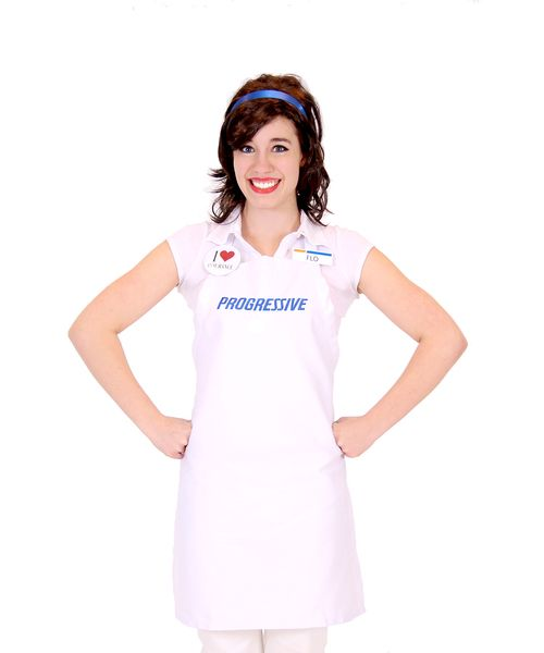 If you have a soft spot in your heart for the laughable, loveable, memorable, Progressive Flo, then you'll love this officially-licensed Progressive Flo Insurance Girl costume set. Featuring everything you would need to make yourself Flo, the Progressive insurance lady for Halloween, this Progressive Flo DIY outfit might be exactly what you've been looking for to make a truly unique, fun, Halloween costume.