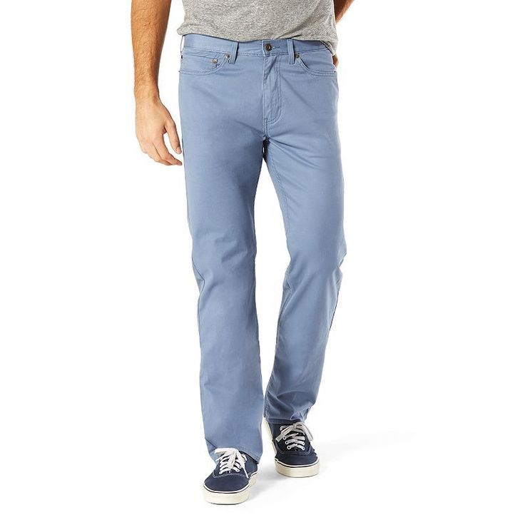 Men's Dockers® Jean Cut D2 Straight-Fit Stretch Twill Pants, Size: 34X30, Blue Other