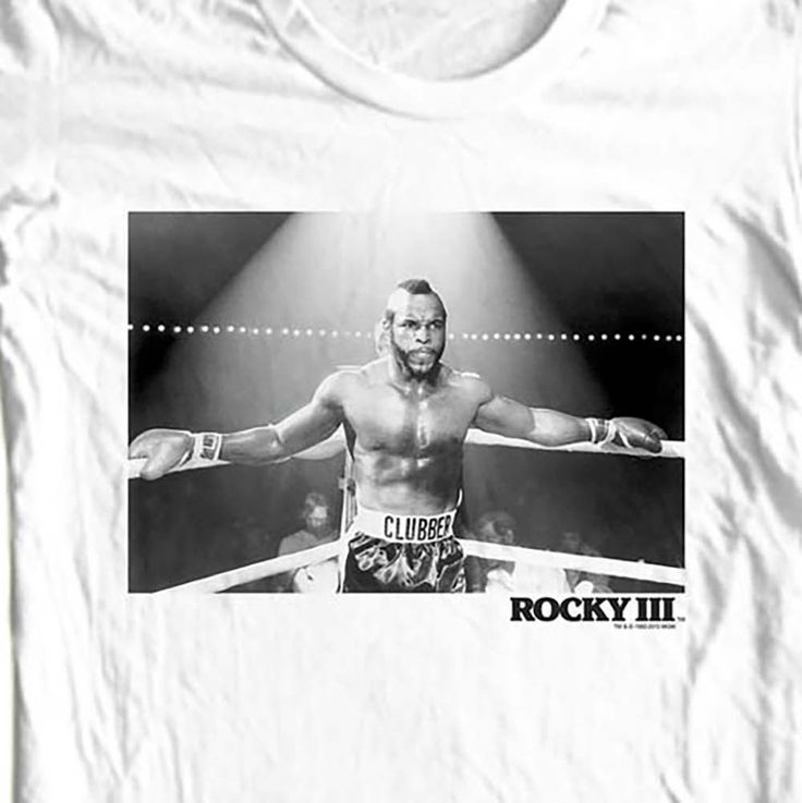 Mr. T T-shirt. I pity the fool who don't buy this t-shirt! Vintage style, brand new t-shirt. Rocky II classic 80's.