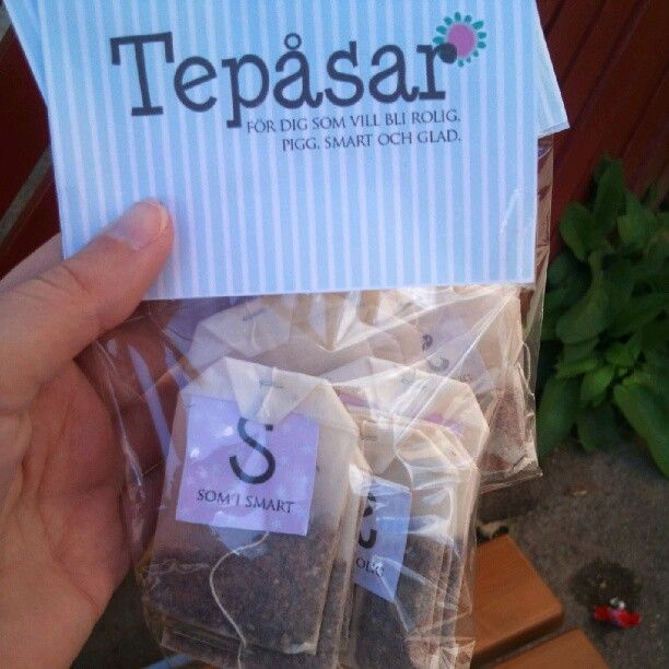 Fun going away gift I made with printables, teabags, glue and cellophane