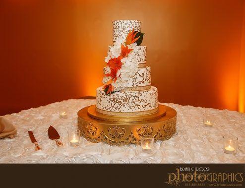 Lena & David's Wedding Cake Safety Harbor Spa