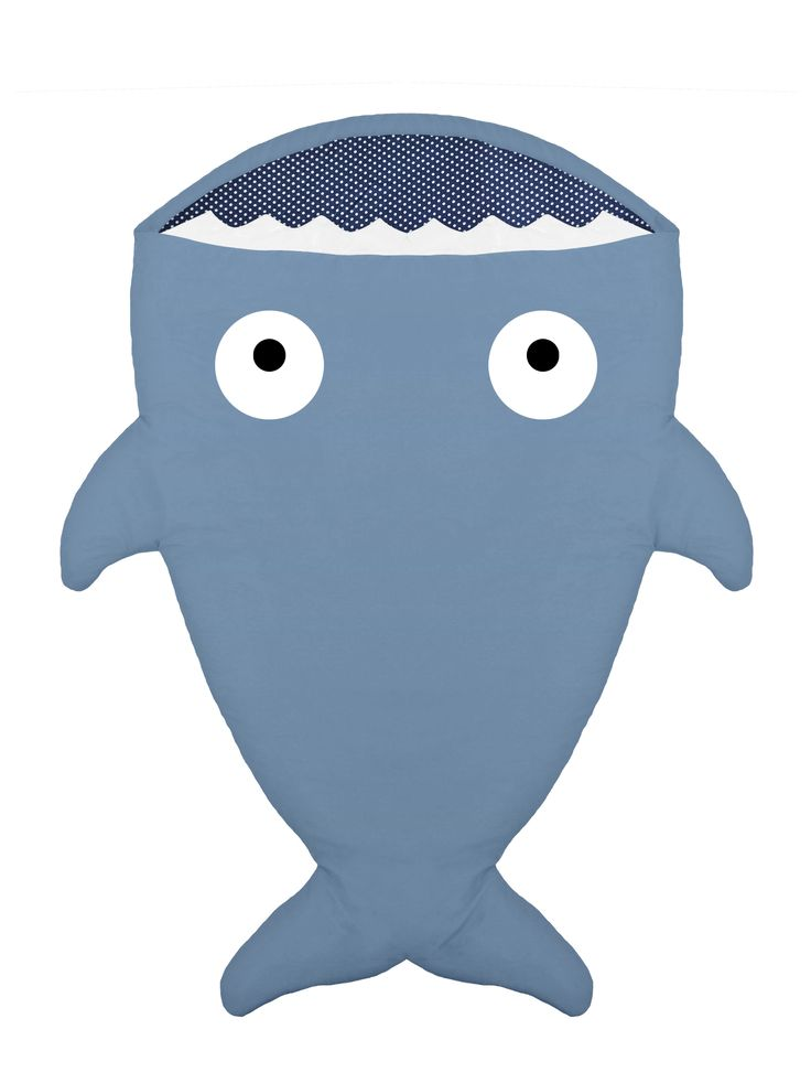blue shark sleeping bag