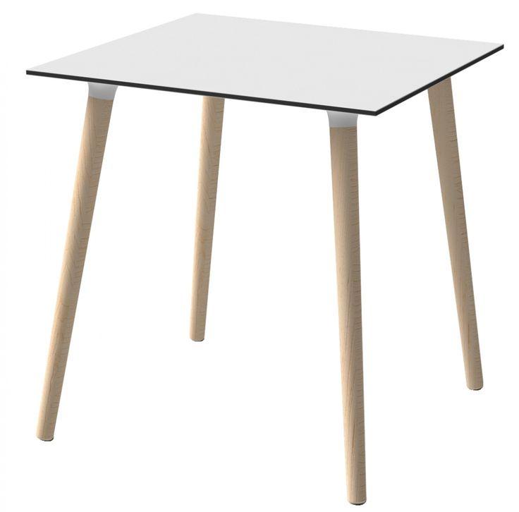 Mesa nórdica cuadrada para restaurante moderno
