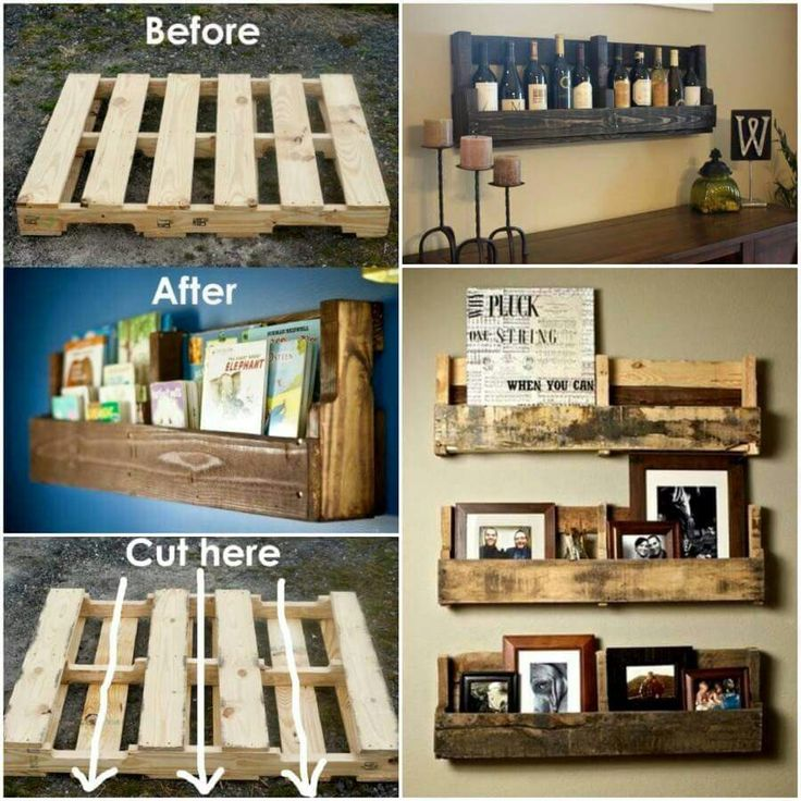 DIY Shelves made from pallets.