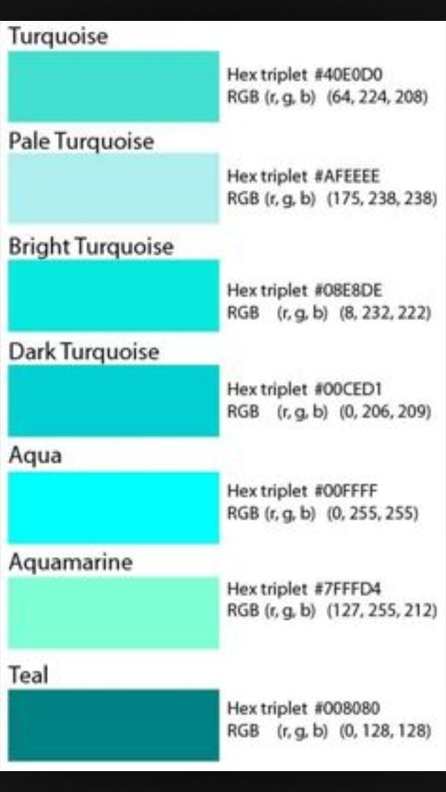 Possible shades of teal, aqua...