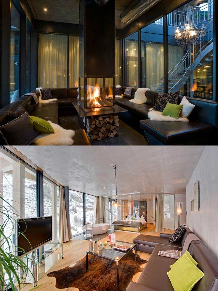 Hotel Matterhorn Focus | Design Hotel | Switzerland | http://lifestylehotels.net/en/matterhorn-focus | Design | Luxury | Fireplace