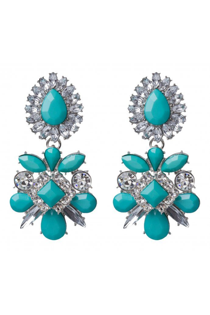Stone And Crystal Statement Earring $12.95