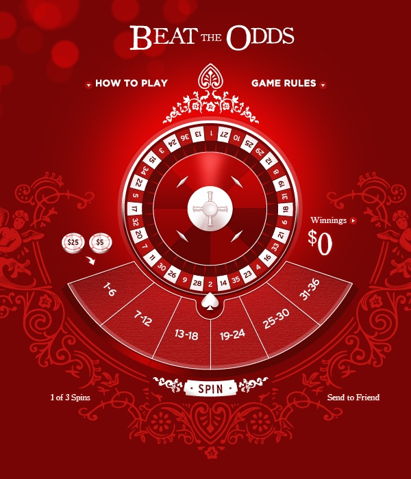 Beat the Odds Game by Max Hancock, via Behance