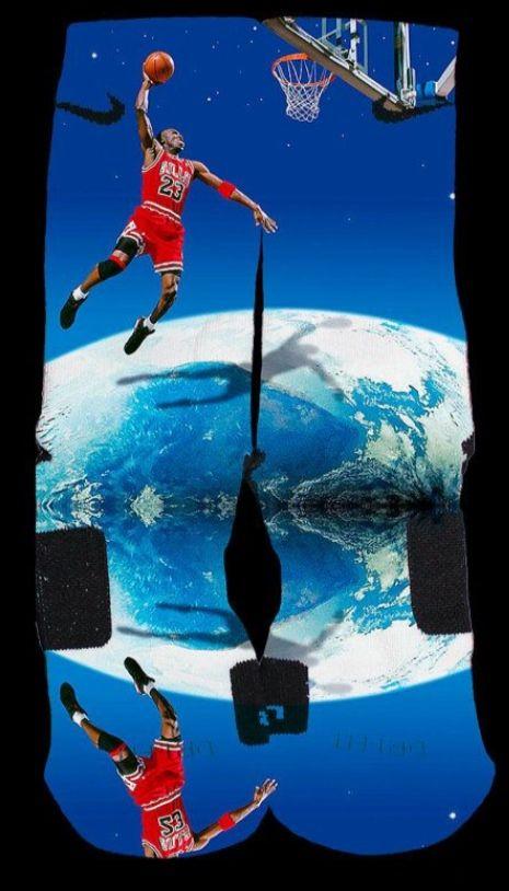 Michael Air Jordan Earth Custom Nike Elite Socks — Luxury Elites