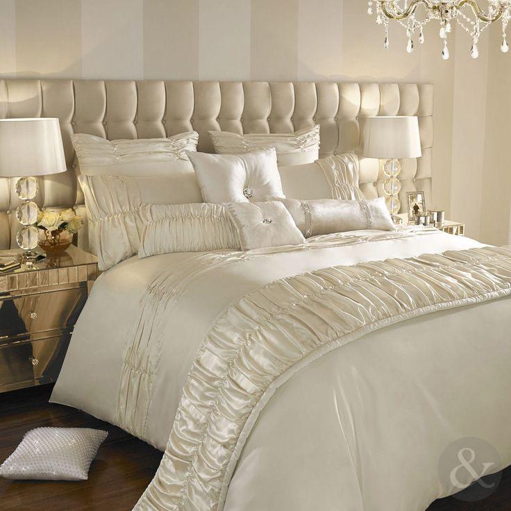kylie minogue karissa luxury satin duvet cover u2013 oyster cream bedding bed set