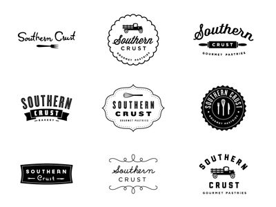 Logo concepts for Southern Crust by Dustin Wallace