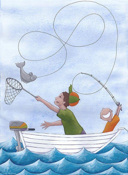 Fishing art for a boy's bedroom. | My Art | Pinterest