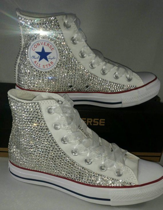 Full Bling Wedding Converse Bridal Sneakers Custom Converse