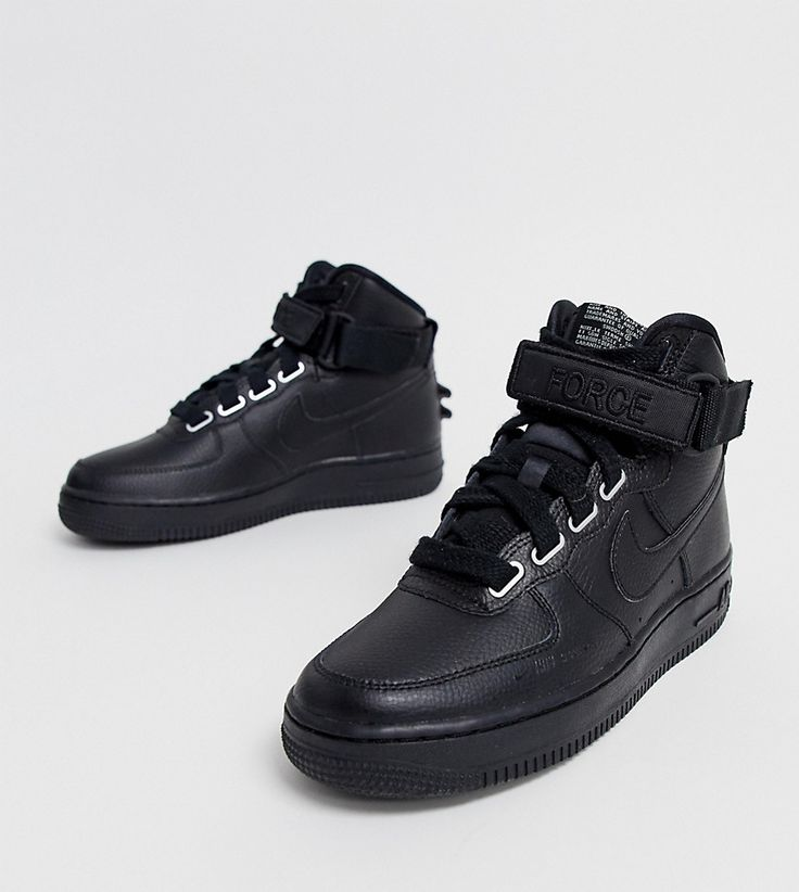 NIKE NIKE AIR FORCE 1 HI SNEAKERS IN BLACK. #nike #shoes