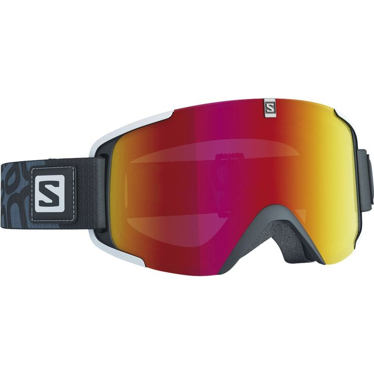 Goggles Xview Black, Mid Red 15/16, alpinbrille