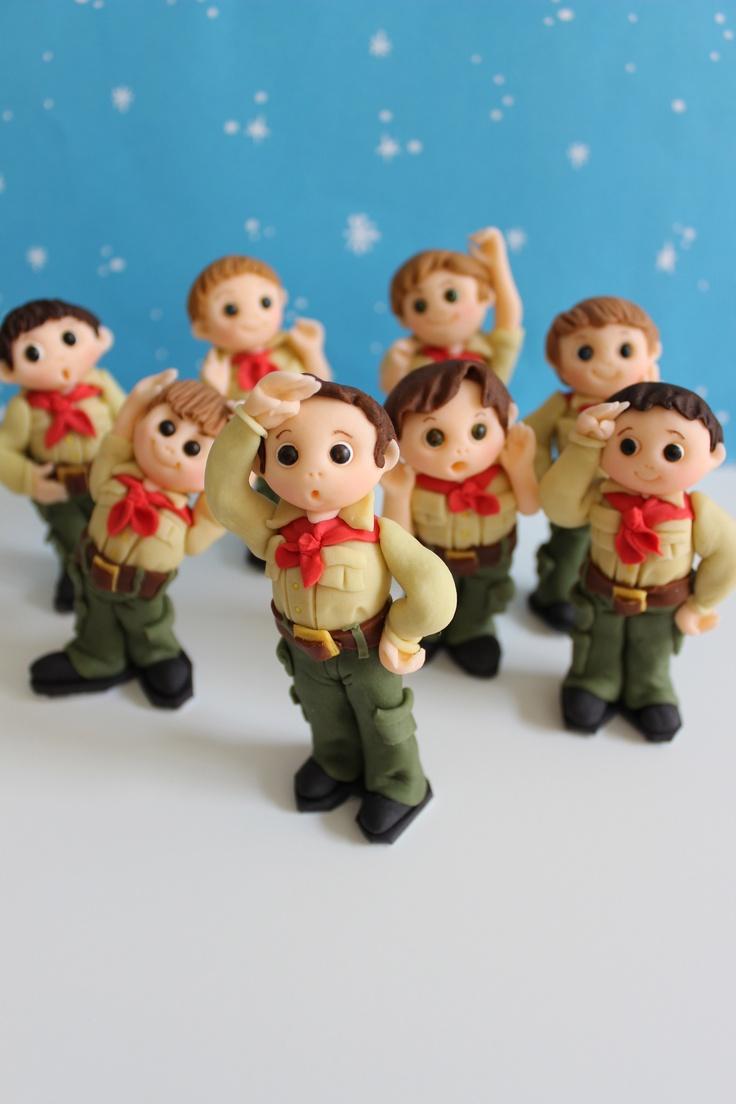 Boy Scouts Fondant Cake Toppers by mimicafe Union