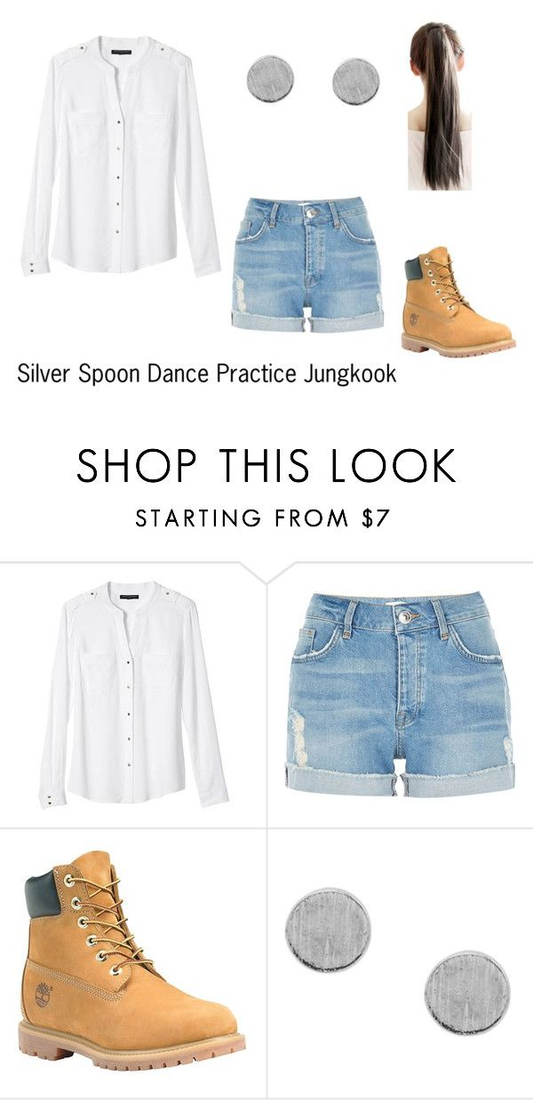 """Silver Spoon Dance Practice Jungkook"" by raylin-dream-girl on Polyvore featuring Banana Republic, River Island and Timberland"