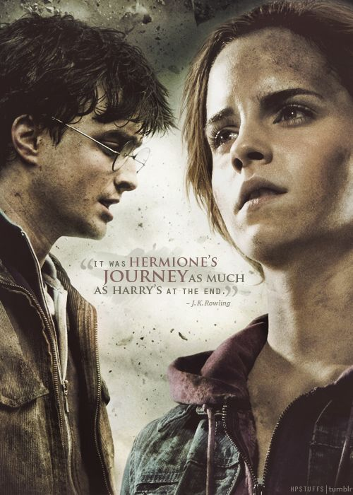 """""""It was Hermione's journey as much as Harry's in the end."""" J.K. Rowling"""