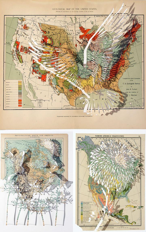 Claire Brewsteru0027s World Map Art 294 best
