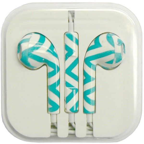 Designer Earbuds Mint White ($15) ❤ liked on Polyvore featuring accessories, tech accessories, cell phone earbuds, earphones earbuds and white earbuds