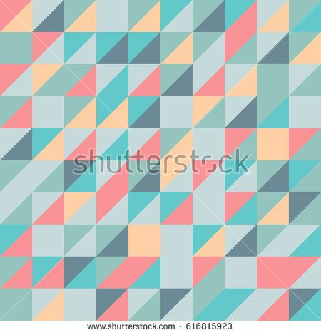 Vector pink-blue abstract triangle seamless pattern texture background