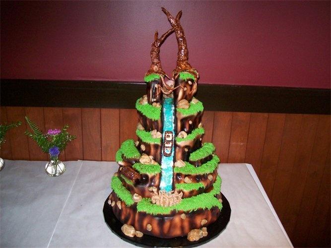 Splash Mountain Cake