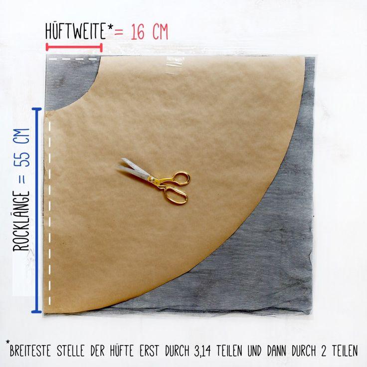 Tüllrock selber machen: Schnittvorlage erstellen