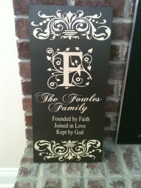 Personalized Home Decor Board by MyLoveyLovey on