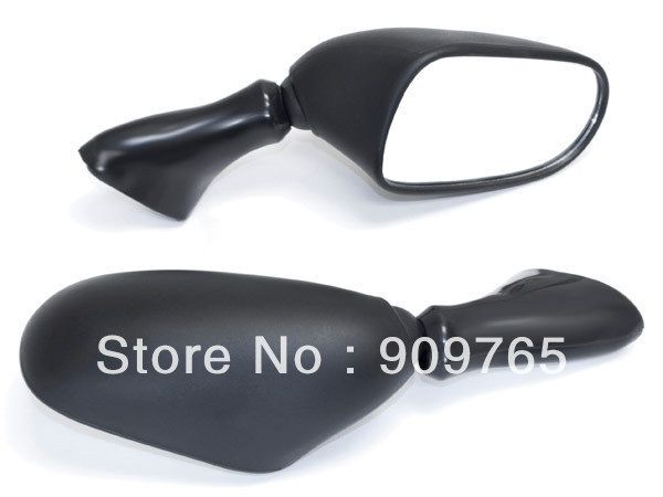 26.99$  Watch more here  - Free Shipping 1 Pair Black Motorcycle Mirrors Left & Right For 1998-2006 Suzuki GSX 600 750 F Katana