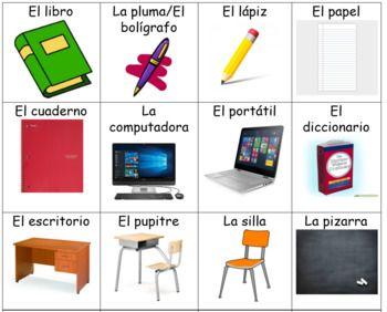 Spanish School Life Flashcards