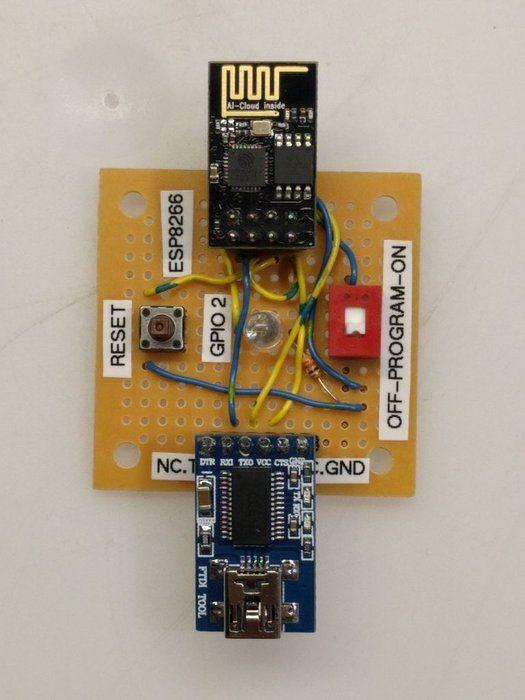 ESP8266 ESP-01 Programming Jig | Arduino | Esp8266 projects, Arduino