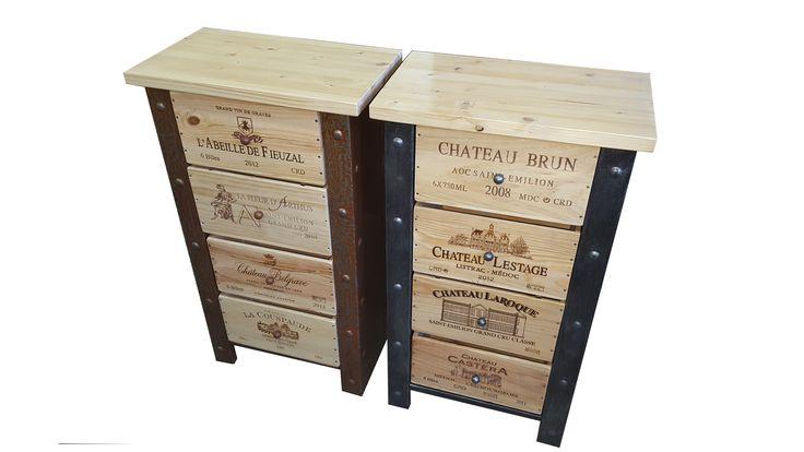 meuble caisse de vin , réalisation sur mesure ...  WEBSITE :http://www.douelledereve.com/