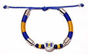 Barbados Bracelet, featuring the national colors and flag.