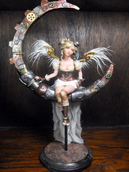 Steampunk Moon Fairy   Wish I could make dolls like this with polymer clay!