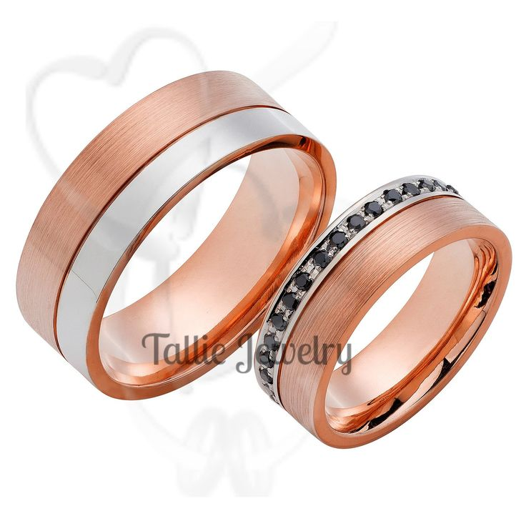 home pair set and custom products recycled textured women wedding rings men band womens gold s bands sets