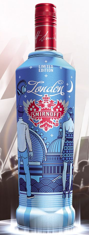 Smirnoff London Lted. Ed. with Buffet Script typeface  www.sudtipos.com