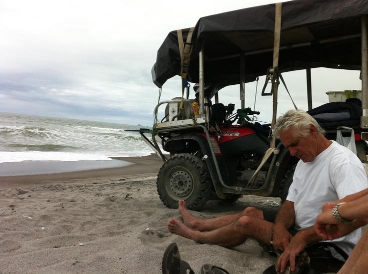 Longlining at Matata beach