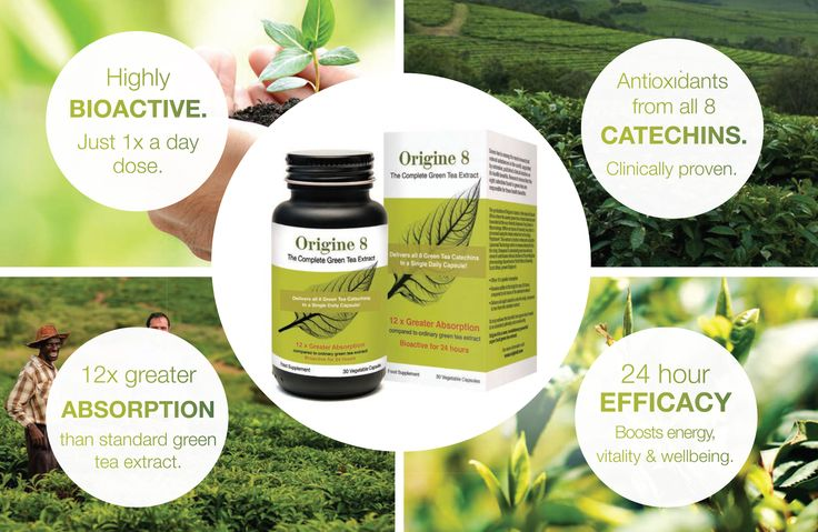 Origine 8 - The Complete Green Tea extract  For the first time, a revolutionary, eco-friendly, pure green tea extract of the highest potency provides 12 x greater absorption of all eight green tea catechins in a single capsule. Research shows the incredible health properties of green tea are due to catechins, a potent type of disease-fighting flavonoid and antioxidant which detoxifies cell-damaging free radicals.  www.origine8.com
