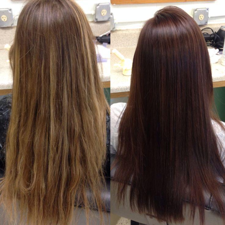 Medium brown red violet hair #hair #brown #red #violet