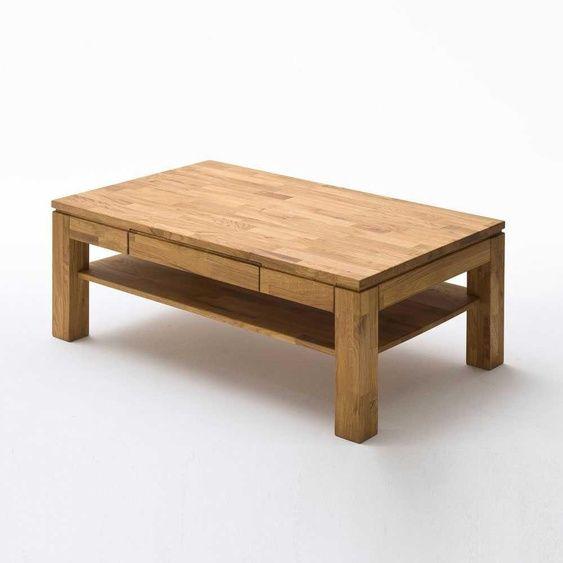 Couchtisch Aus Asteiche Massivholz Mit Schublade In 2020 Couchtisch Holz Tisch