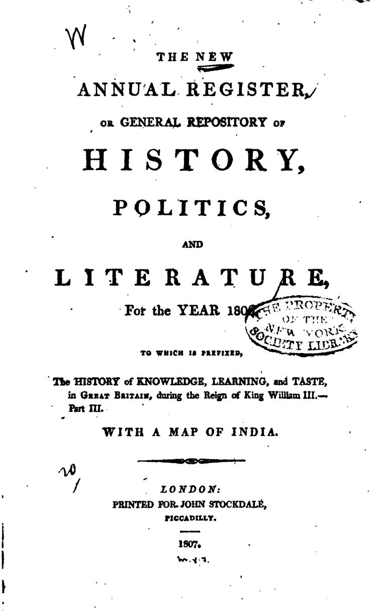The New Annual Register, Or General Repository of History, Politics, and ...1809