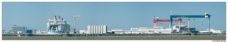 Sister ships Harmony of the Seas et Oasis 4 in a panoramic of the Chantiers de l'Atlantique.  https://flic.kr/p/Ffja41