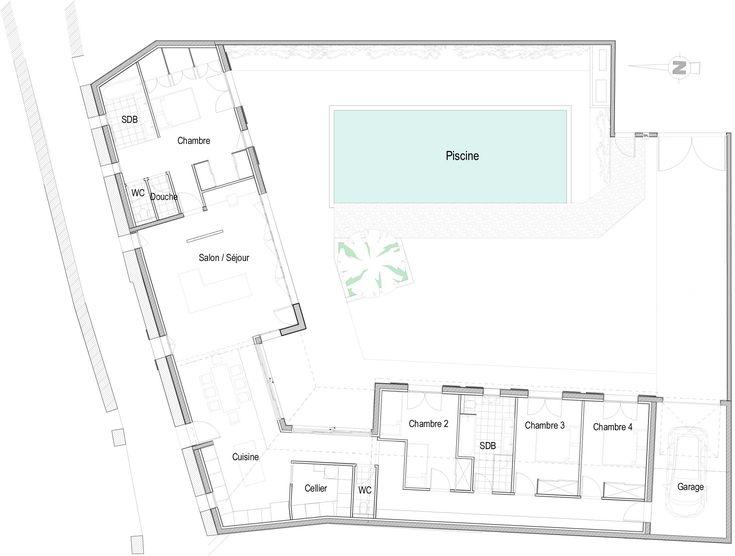 Annonce de location n°5432 sur l'ile de Ré : Belle maison d'architecte avec piscine chauffée